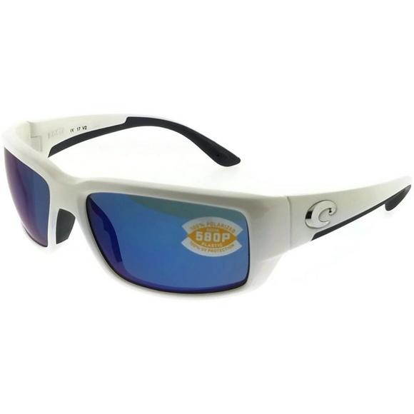 afee9eefc4 TF25OBMP Men s White Frame Blue Lens Polarized